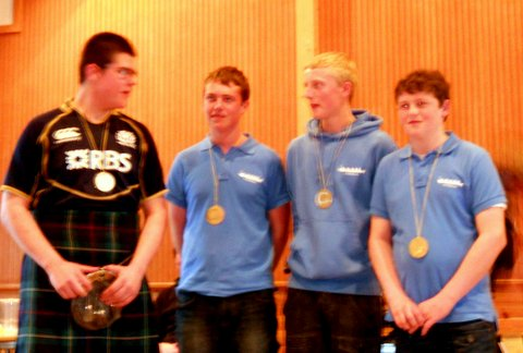 Under 17 crew with their medals